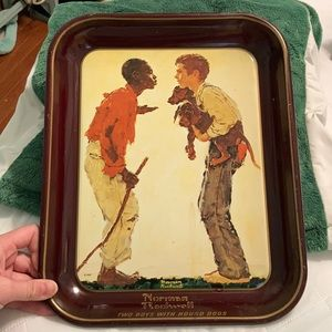 Norman Rockwell Collectors Tin Tray